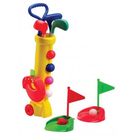 Silverline Mini-Golf Set für Kinder, Plastikbag gelb