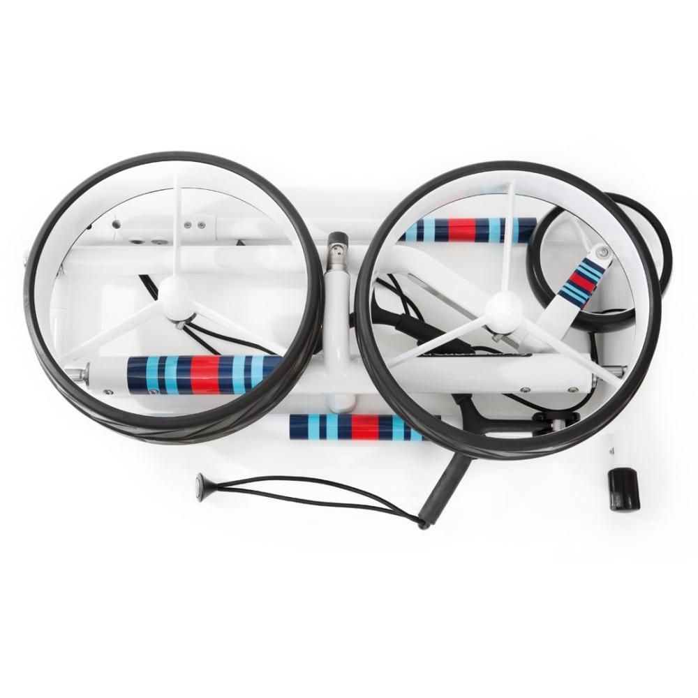 jucad racing golf trolley sonderedition wei elektrotrolley. Black Bedroom Furniture Sets. Home Design Ideas