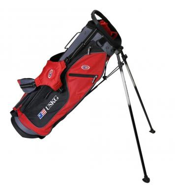 U.S. Kids Golf Ultralight Series Bag, UL63 / 160-168cm, rot/schwarz/grau