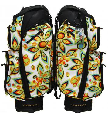 Loudmouth Golf Cartbag 3.0 White Shagadelic