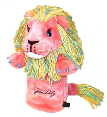 John Daly Lion Headcover, pink